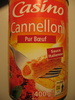 Cannelloni Pur Boeuf - Sauce italienne - Product