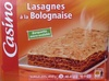 Lasagnes à la Bolognaise, Surgelées - Produit