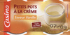 Petits pots de crème saveur vanille - Prodotto