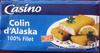 Colin d'Alaska 100% filets 8 panés - Produit