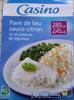 Pavé de lieu sauce citron riz et julienne de légumes (2,4 % MG) - Product