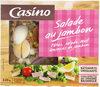 Salade au jambon : pâtes, salade, oeuf, émincés de jambon - Produit