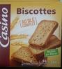 Biscottes à la farine complète Casino - Producte