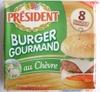 Burger Gourmand au Chèvre (18 % MG) 8 Tranches - Produit