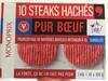 10 Steaks Hachés Pur Bœuf Surgelés - Product