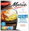 Merlu blanc compotée à la provençale, linguine au safran - Product
