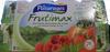 Frutimax Yaourt aux fruits (pêche, abricot, fraise, cerise, ananas, framboise)Colorants d'origine naturelle - Sans conservateur - Lait Français* hors protéines de lait - Product