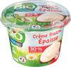 Crème fraîche épaisse 30% mat gr entière BIO - Produit