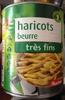 Haricot beurre (très fins) - Produit