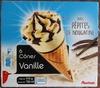 6 cônes vanille avec pépites de nougatine - Produit