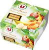 Coupelle dessert de fruits pomme,abricot et pomme,banane - Product