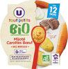 Assiette mijoté de carottes et boeuf U_TOUT_PETITS Bio - Produkt