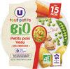 Assiette de petits pois et vea U_BIO U_TOUT_PETITS Bio - Product