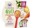 Assiette de courgette blé et dinde bio U_TOUT_PETITS Bio - Product