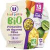 Assiette du soir printanière de légumes et pâtes bio - Product