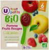Pots dessert pomme fruits rouges U_TOUT_PETITS Bio - Produit