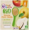 Pots dessert pomme poire vanille U_TOUT_PETITS Bio - Product