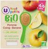 Pots dessert à la pomme coing et banane U_TOUT_PETITS Bio - Produit