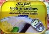 Filets de sardine marinade citron basilic (Sans huile) - Product