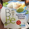 Purée avec morceaux à base de haricots verts riz et sole tropicale. - Product