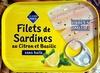 Filets de Sardines au Citron et Basilic sans huile - Product