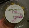 Olives vertes à l'ail dénoyautées - Produit