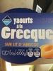 Yaourt à la Grecque sur Lit d'Abricot - Product
