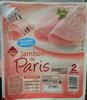 Jambon de Paris découenné dégraissé (2 tranches) - Produit