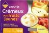 Yaourts Crémeux aux fruits jaunes (Abricot, Poire, Ananas, Nectarine) 8 Pots - Produit