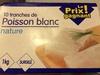 10 tranches de poisson blanc nature - Produit