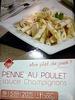 Penne au Poulet ,sauce Champignons, Surgelé - Product