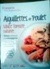 Aiguillettes de Poulet Sauce Tomate Cuisinée, Polenta Crémeuse aux Champignons - Product
