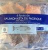4 pavés de saumon kéta du Pacifique, avec peau - Product