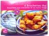 6 brochettes thaï bouchées aux crevettes et curry rouge - Produit