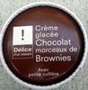 Crème glacée Chocolat morceaux de Brownies - Product