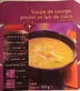 Soupe de courge, poulet et lait de coco - Product