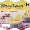 Gâteaux de semoule aux raisins sur lit de caramel - Product