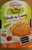 Mon plat végétal Steak de soja au curry, riz aux petits légumes - Product