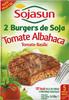 Hamburguesas vegetales de soja de tomate y alhabaca - Producte