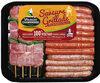 Plateau panaché : brochettes de dinde + mix saucisses de dinde - Product