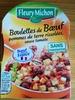 Boulettes de Bœuf pomme de terre rissolées, sauce tomate - Producto