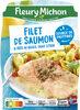 Filet de saumon & pâtes au basilic, sauce citron - Produit