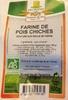 Farine de Pois Chiche - Produit