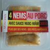 4 Nems au Porc avec Sauce Nuoc-Mâm - Product