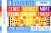 8 Yaourts aux fruits avec morceaux - Produit
