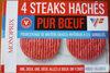 4 steaks hachés pur boeuf - Produit
