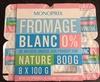 Fromage blanc Nature 0% de matière grasse - Product