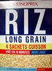 Riz long grain 4 sachets cuisson Monoprix - Produit