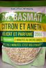 Riz Basmati Citron et Aneth - Produit