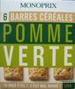 6 Barres céréales Pomme Verte Monoprix - Produit